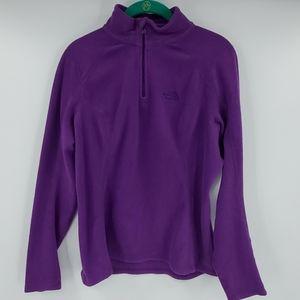 THE NORTH FACE purple fleece 1/4 zip sweatshirt